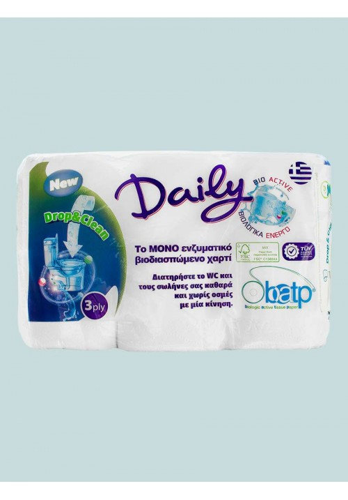 Биоразградима тоалетна хартия с ензимен състав