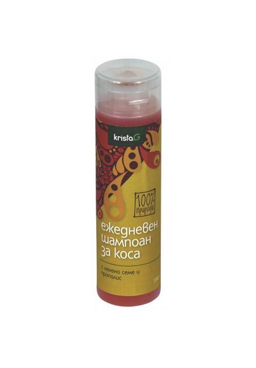 Ежедневен шампоан за коса с ленено семе и прополис